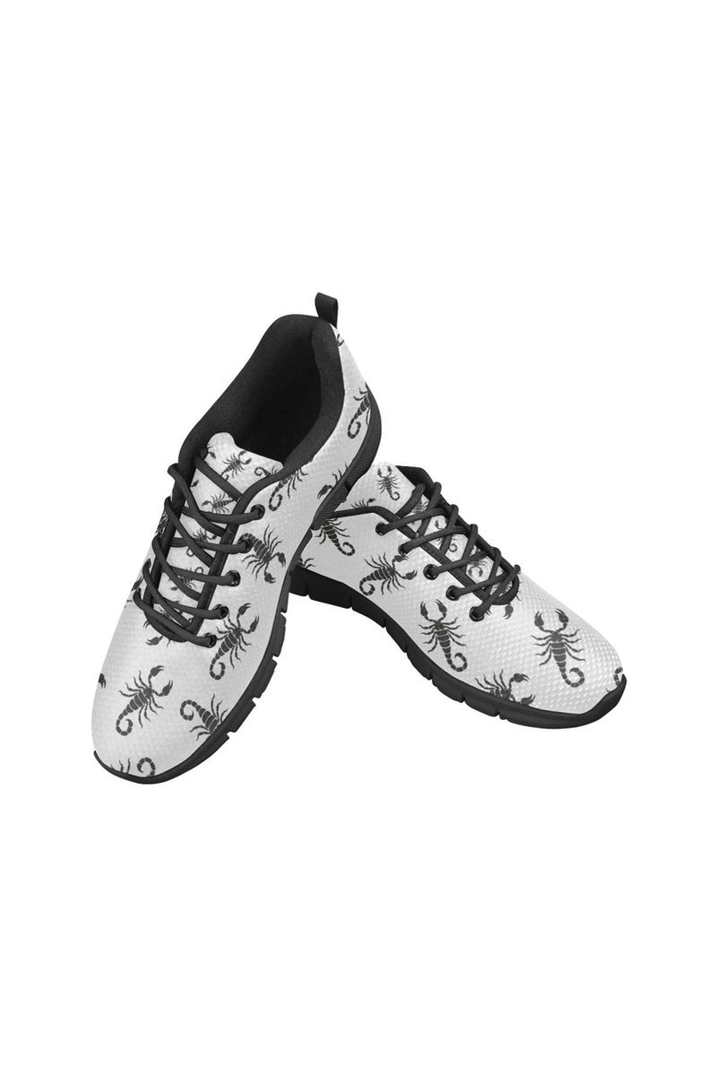 Black Scorpio Women's Breathable Running Shoes (Model 055)