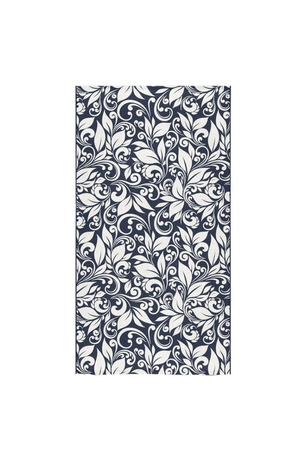 "Scroll Blue Bath Towel Bath Towel 30""x56"""