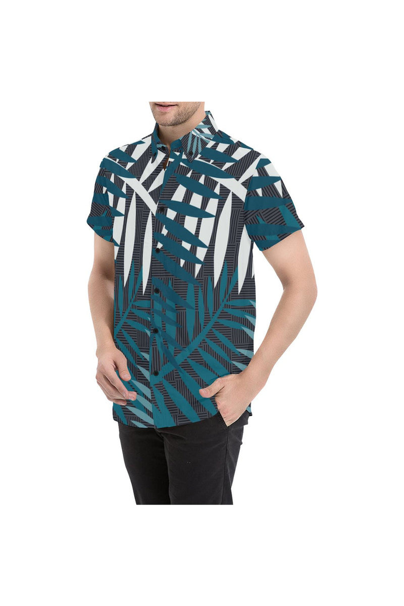 Moonlit Palms Men's All Over Print Short Sleeve Shirt - Objet D'Art Online Retail Store
