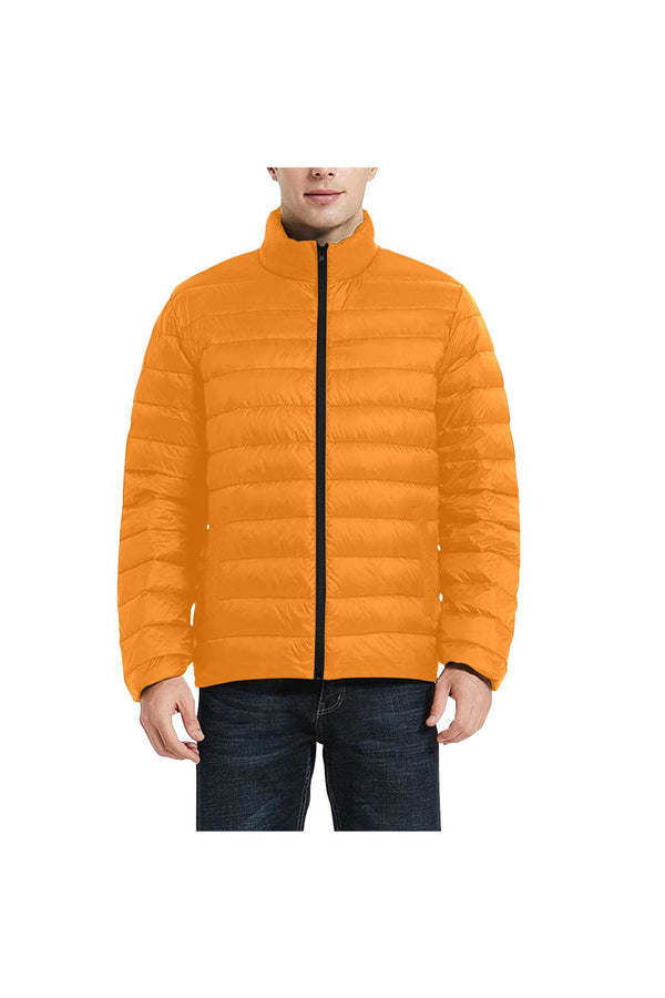 Turmeric Men's Stand Collar Padded Jacket (Model H41)