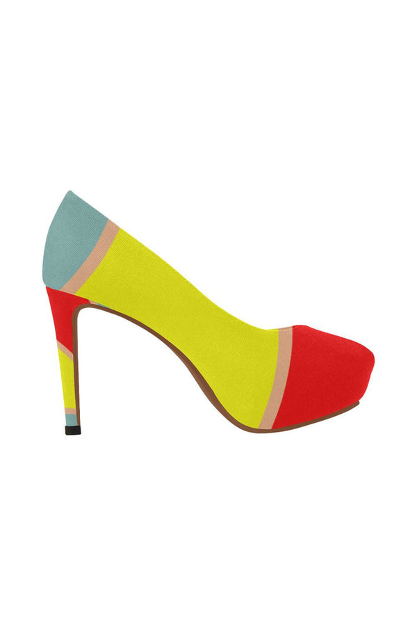 Multi-Colored Menagerie Women's High Heels - Objet D'Art Online Retail Store