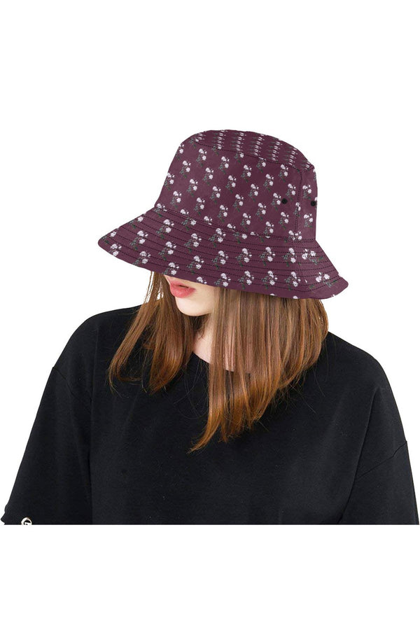 Floral Purple All Over Print Bucket Hat