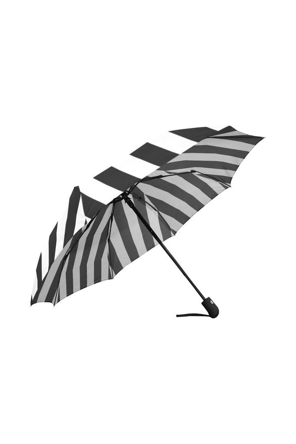 Black & White Striped Vintage Auto-Foldable Umbrella