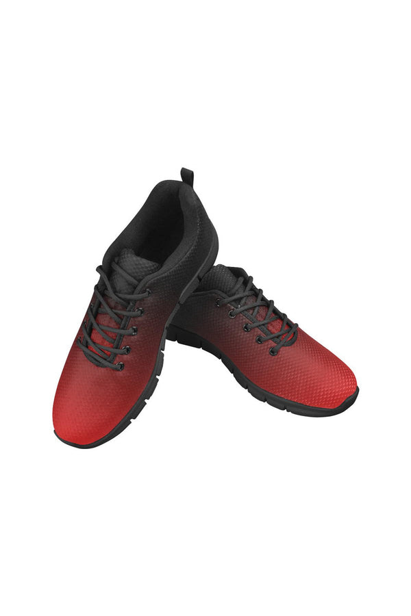 Fade Red to Black Women's Breathable Running Shoes - Objet D'Art Online Retail Store