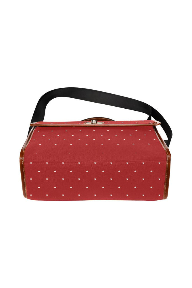 Hearts Waterproof Canvas Bag/All Over Print - Objet D'Art Online Retail Store