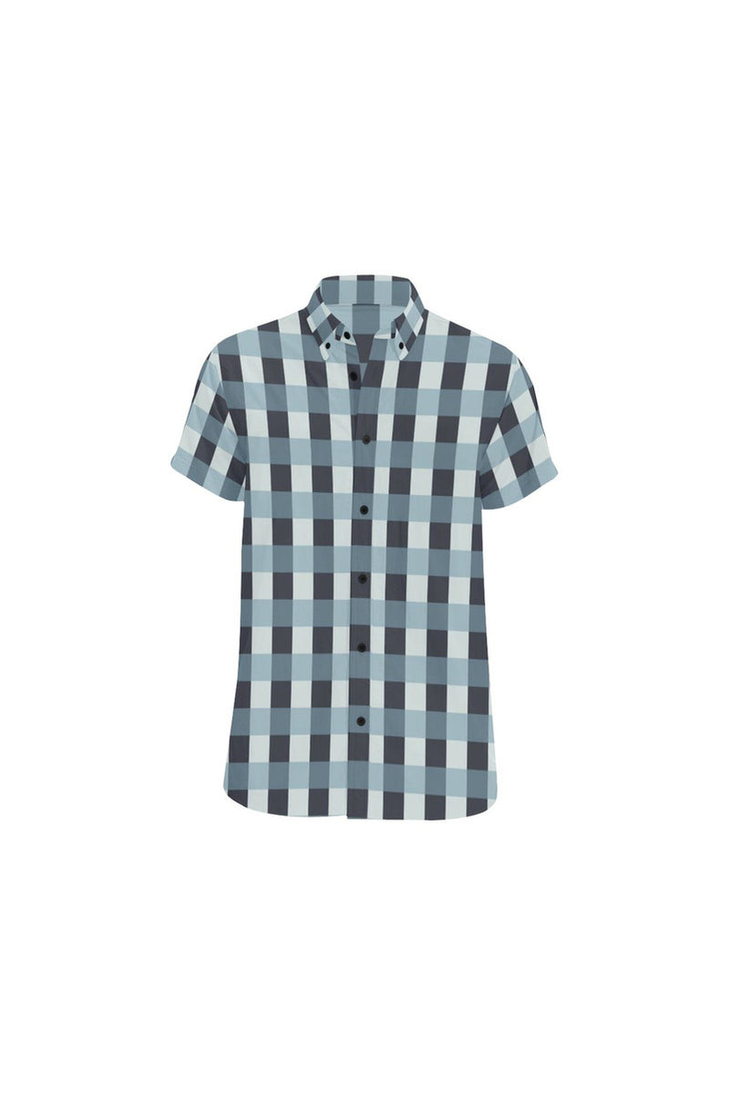 Plaid Men's All Over Print Short Sleeve Shirt