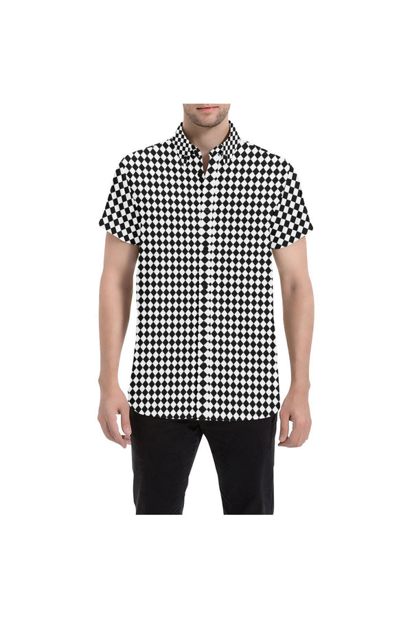 Harlequin Heaven Large Men's All Over Print Short Sleeve Shirt/Large Size - Objet D'Art Online Retail Store