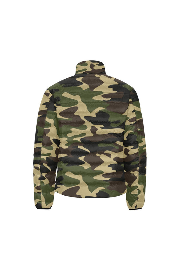 Woodland Camouflage Men's Stand Collar Padded Jacket