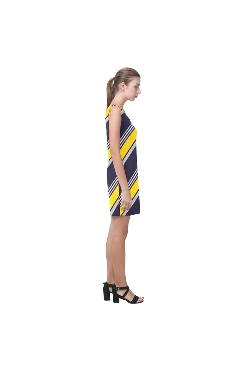 Golden Stripes Medea Vest Dress - Objet D'Art Online Retail Store