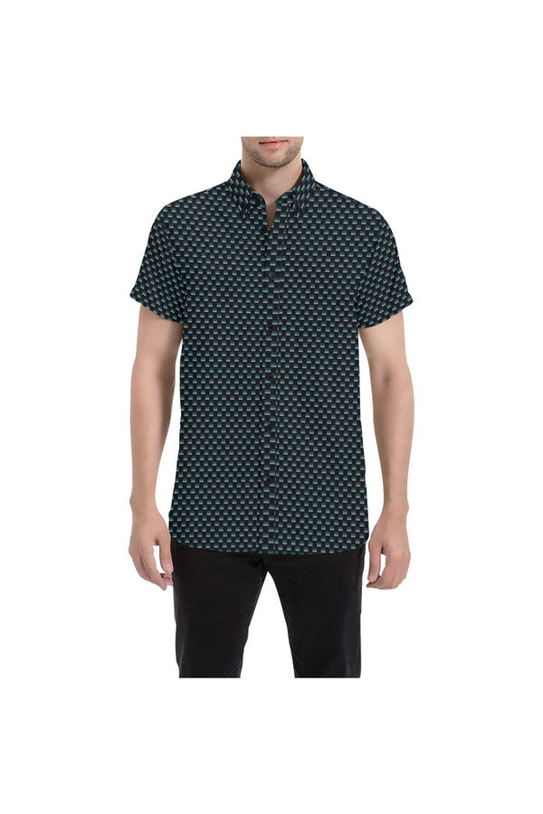 The Micro Matrix Men's All Over Print Short Sleeve Shirt