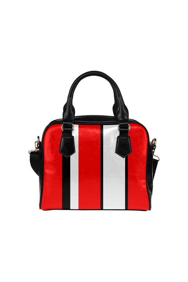 Tricolor Stripes Shoulder Handbag