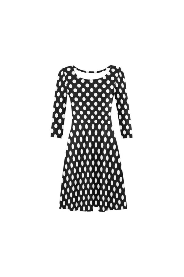 Houndstooth 3/4 Sleeve Swing/Sundress