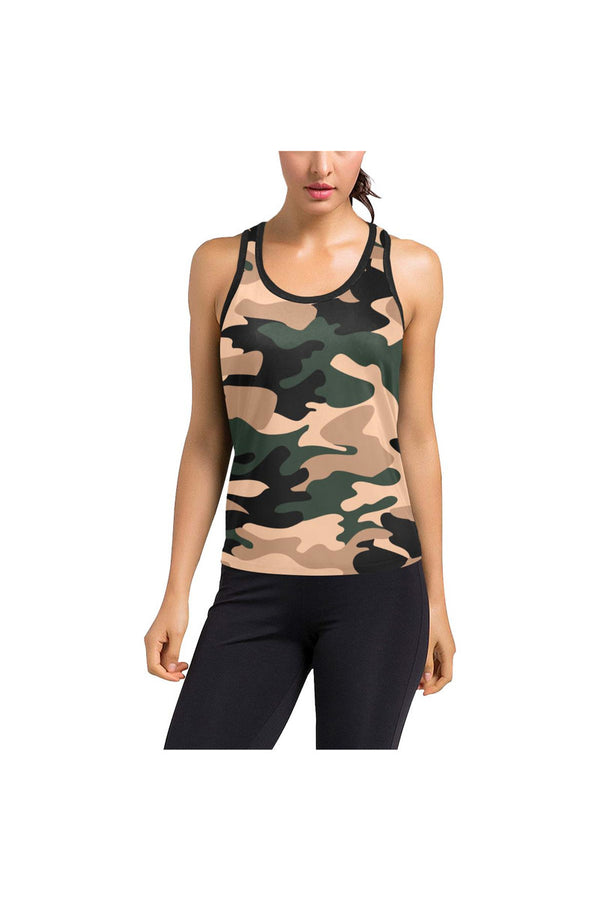 Woodland Camouflage Women's Racerback Tank Top