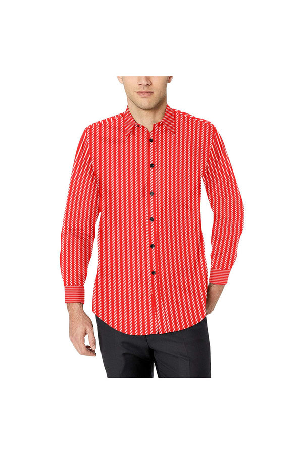 Classic Striped Men's All Over Print Casual Dress Shirt (Model T61)