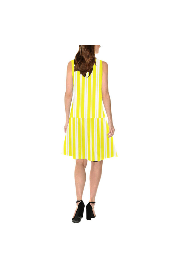 Summer Stripe Sleeveless Splicing Shift Dress