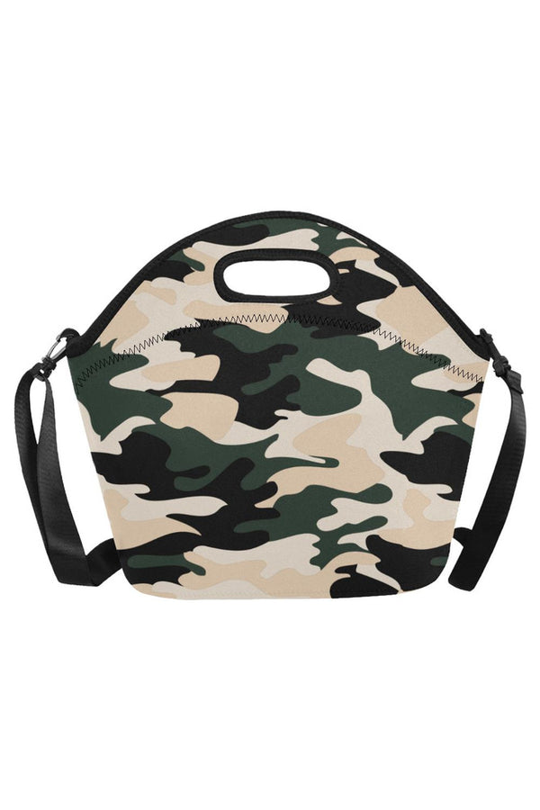camo lunch bag Neoprene Lunch Bag/Large (Model 1669)