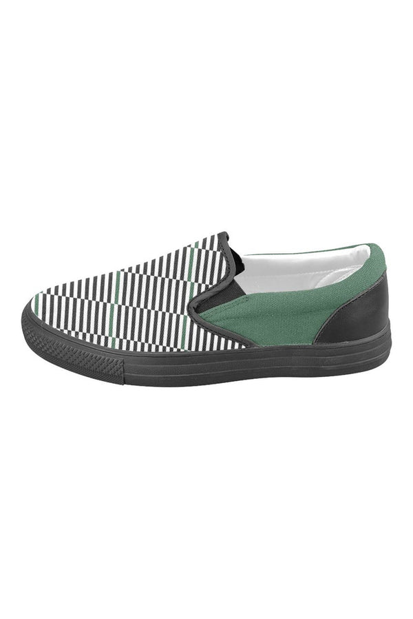 16 Bars Men's Slip-on Canvas Shoes (Model 019)
