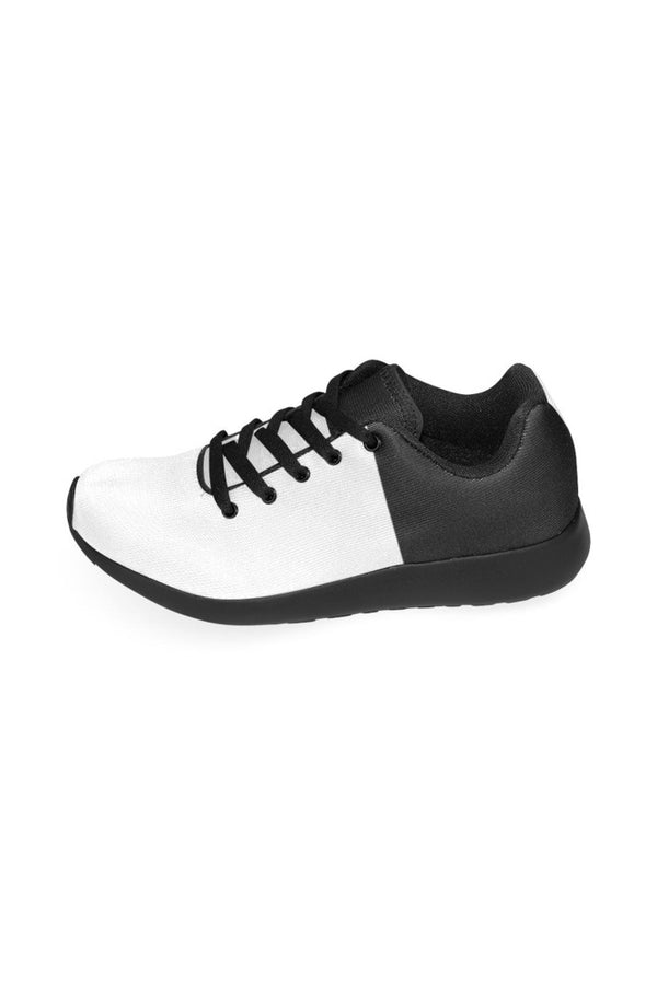 White & Black Men's Running Shoes/Large Size (Model 020)
