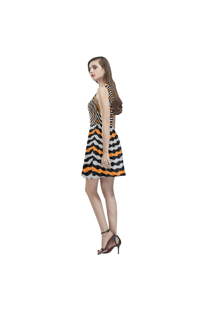 TWIRLING HYPNOSIS Thea Sleeveless Skater Dress - Objet D'Art Online Retail Store