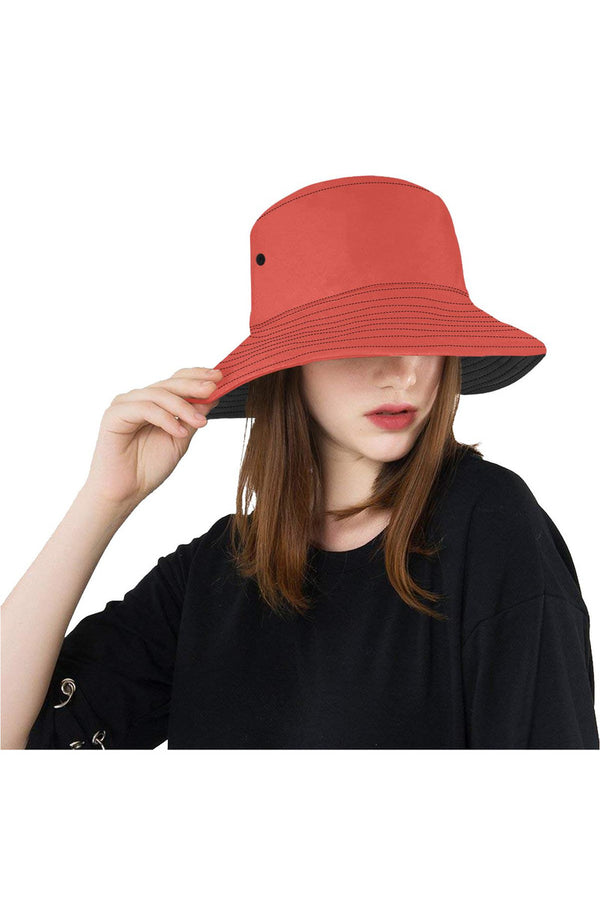 Living Coral All Over Print Bucket Hat
