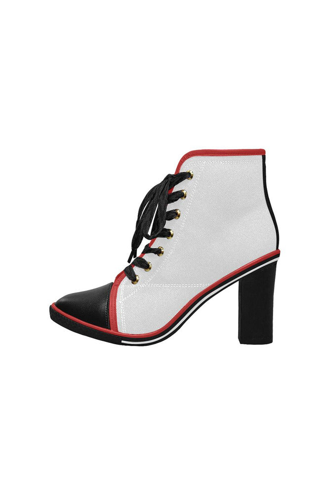 Mobster Women's Lace Up Chunky Heel Ankle Booties