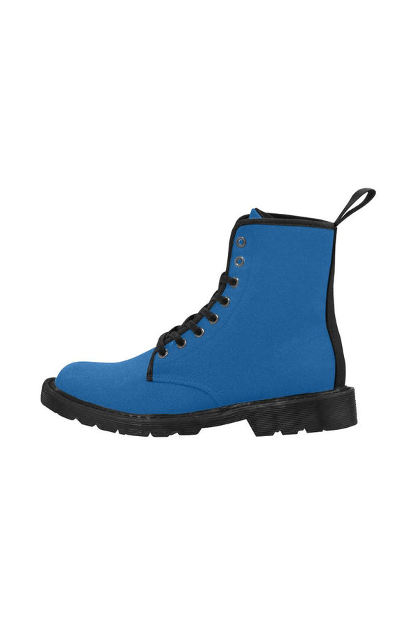 Blue Flower Power Martin Boots for Women