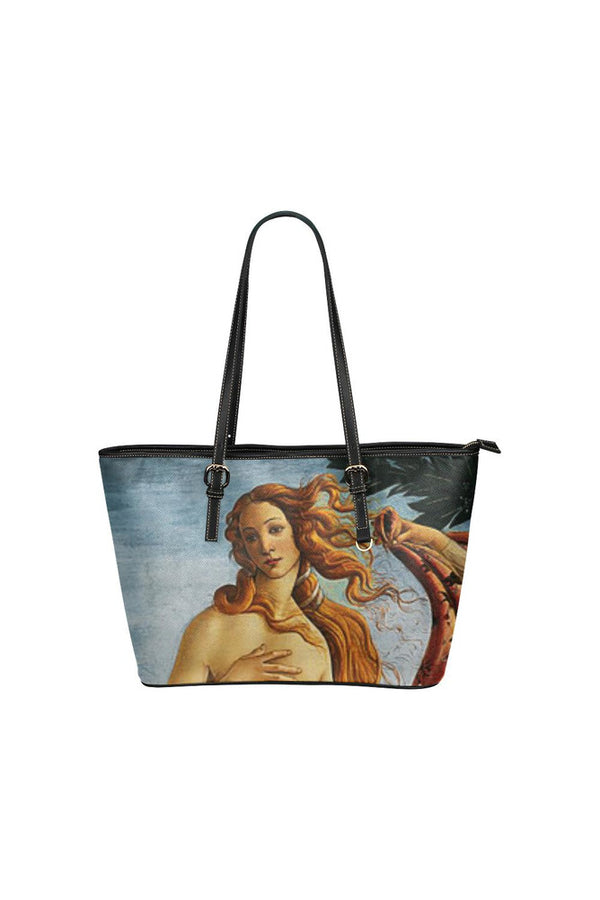 Birth of Venus Leather Tote Bag/Small