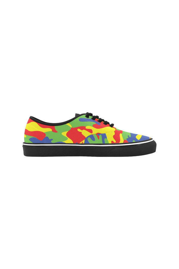 Primary Colors Classic Women's Canvas Low Top Shoes (Model E001-4)