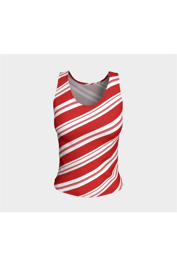 Candy Cane Fitted Tank Top