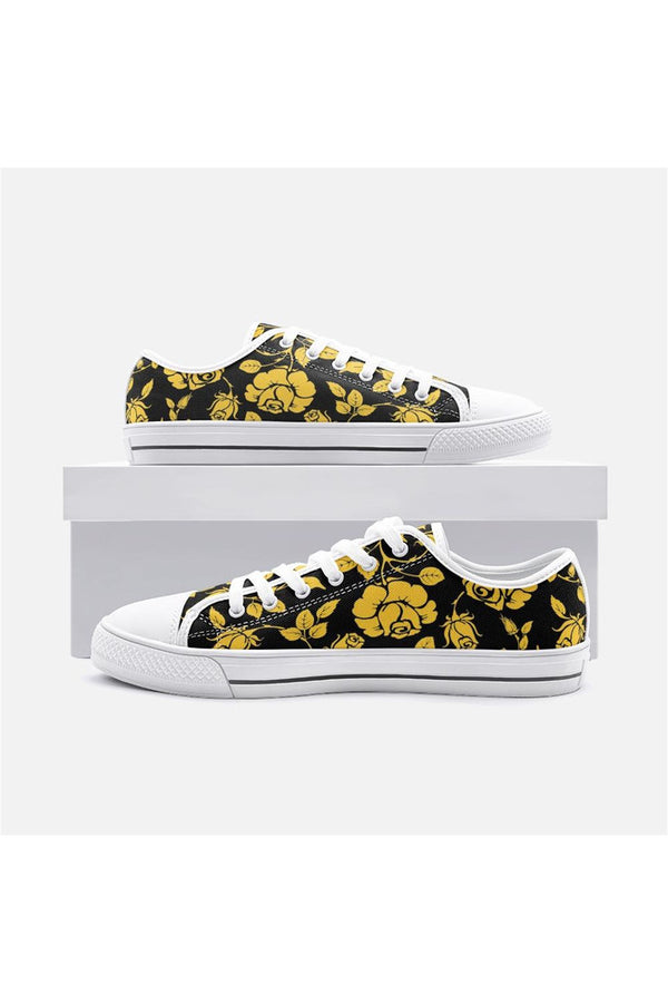 Gold Rose Unisex Low Top Canvas Shoes