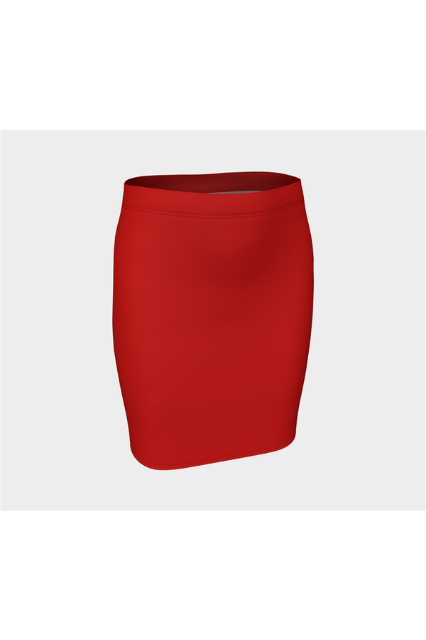 Red Fitted Skirt