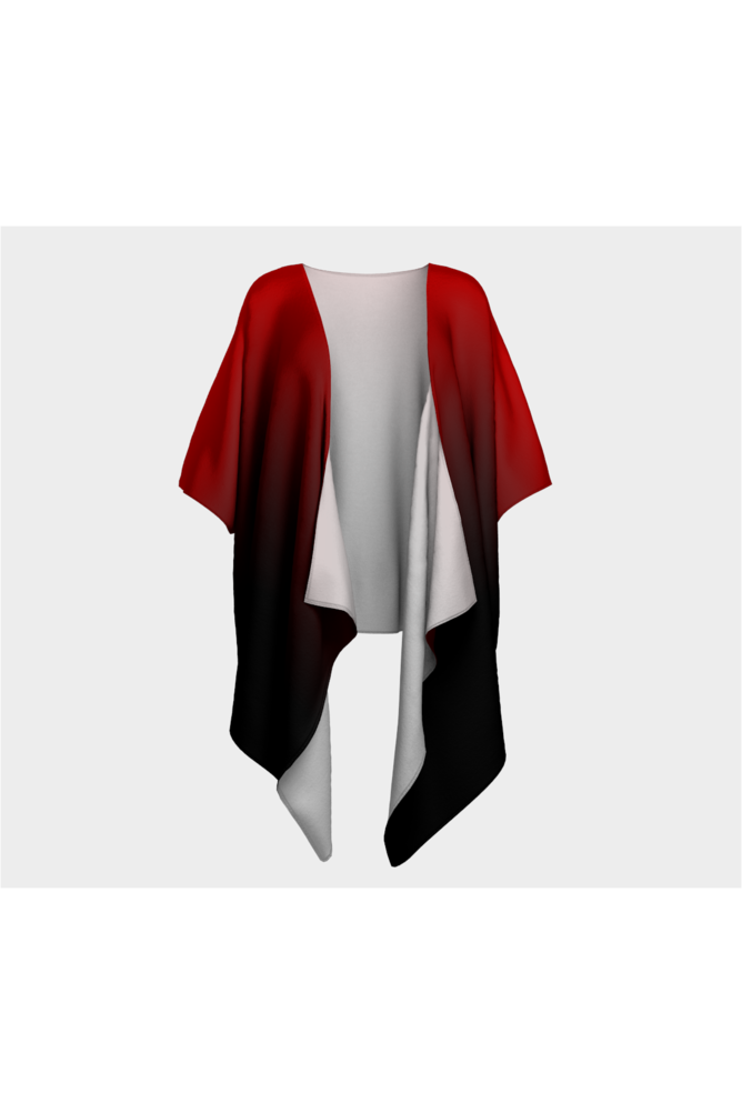 Fade Red to Black Draped Kimono - Objet D'Art Online Retail Store