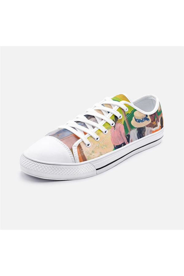 The Siesta by Gaughin Unisex Low Top Canvas Shoes