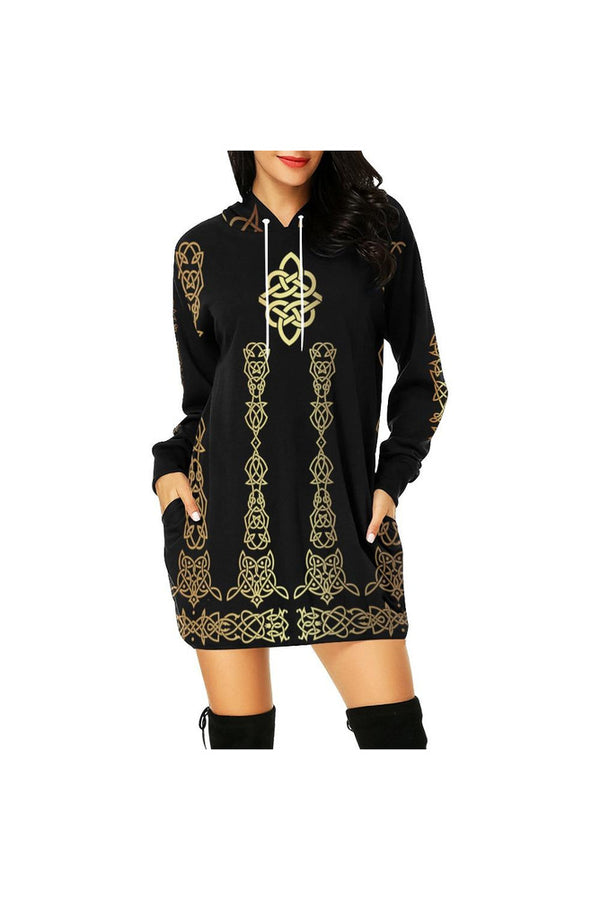 Celtic Bronze Hoodie Mini Dress