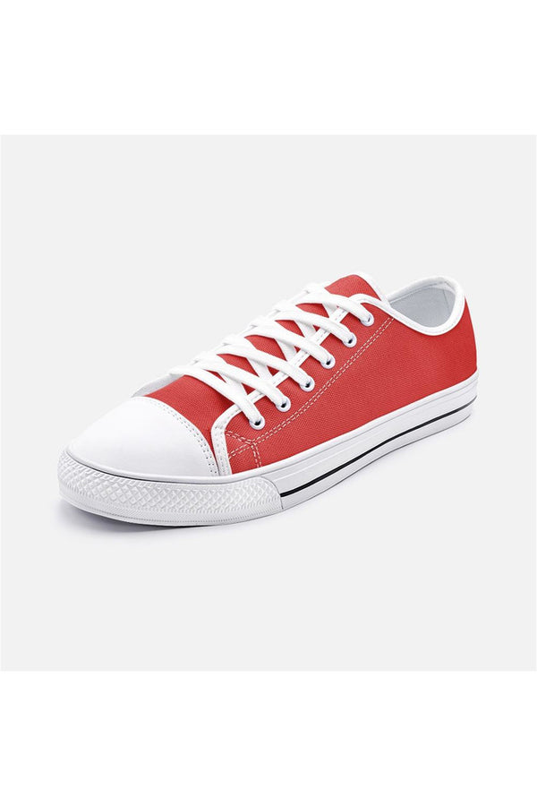 Red Unisex Low Top Canvas Shoes