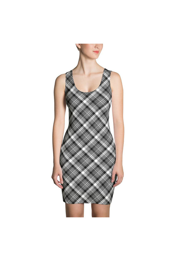 Tartan Black Sublimation Cut & Sew Dress