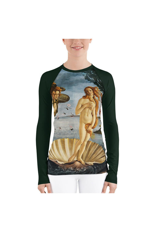 Birth of Venus Women's Rash Guard