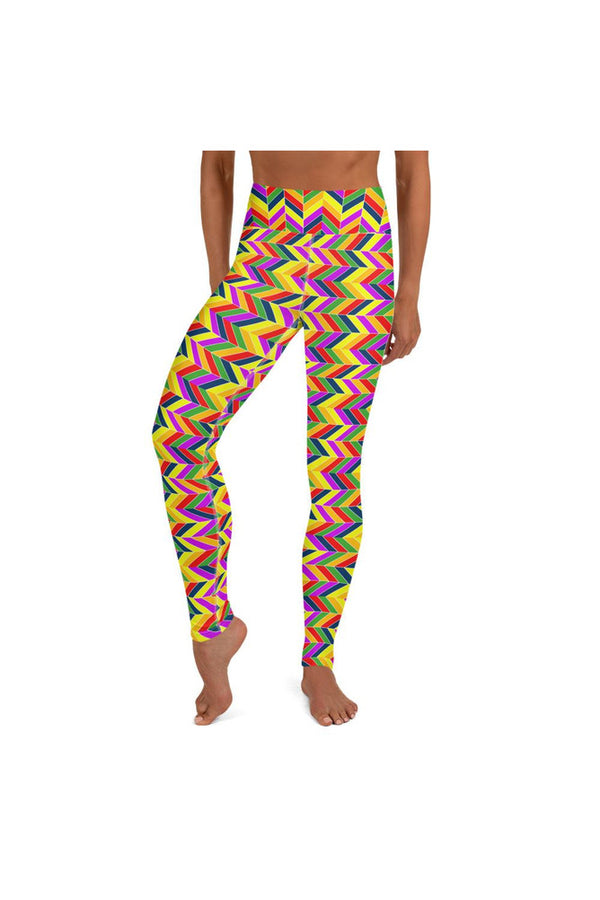 Herringbone Rainbow Yoga Leggings