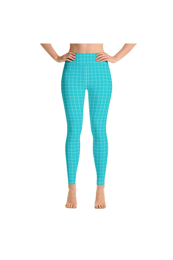 Robin's Egg Matrix Yoga Leggings