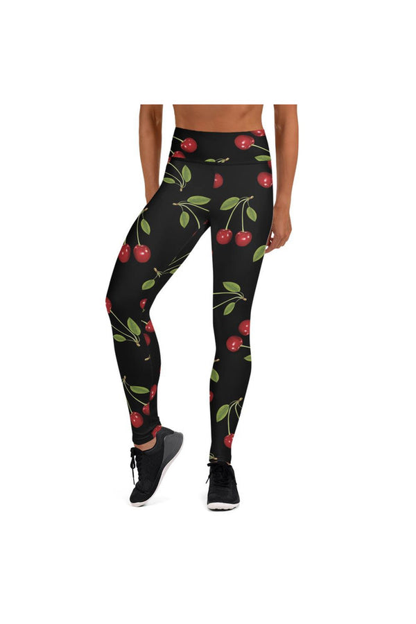 Cherry Print Yoga Leggings