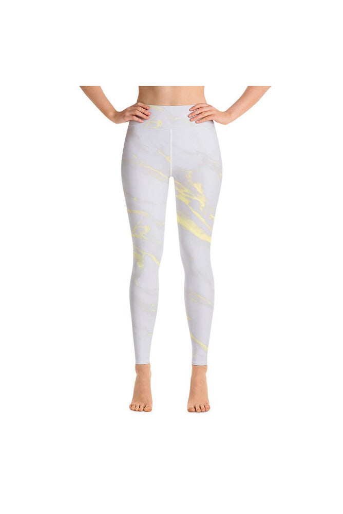 Gold Streaked Marble Yoga Leggings