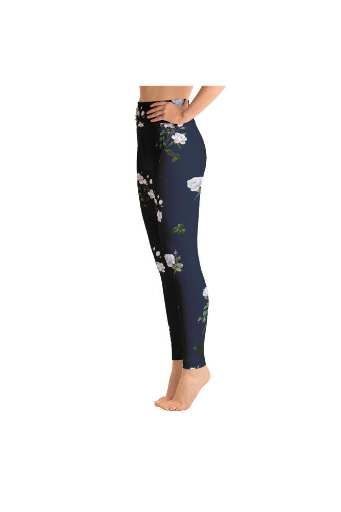 White Floral Yoga Leggings