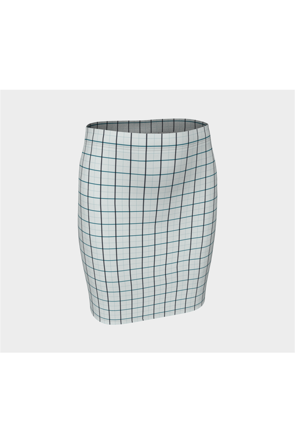 Checker Chic Fitted Skirt - Objet D'Art Online Retail Store