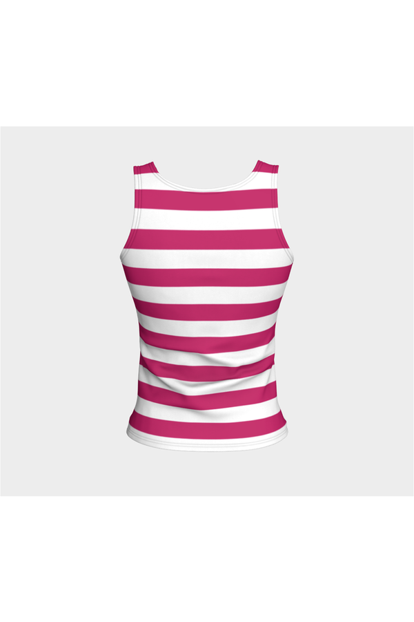 Hot Pink Stripe Fitted Tank Top