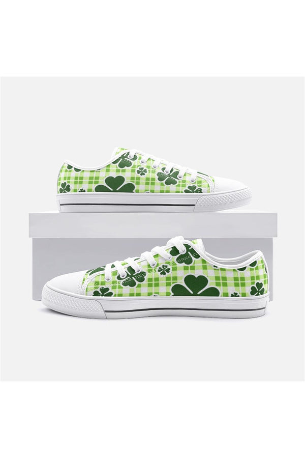 Shamrock Unisex Low Top Canvas Shoes