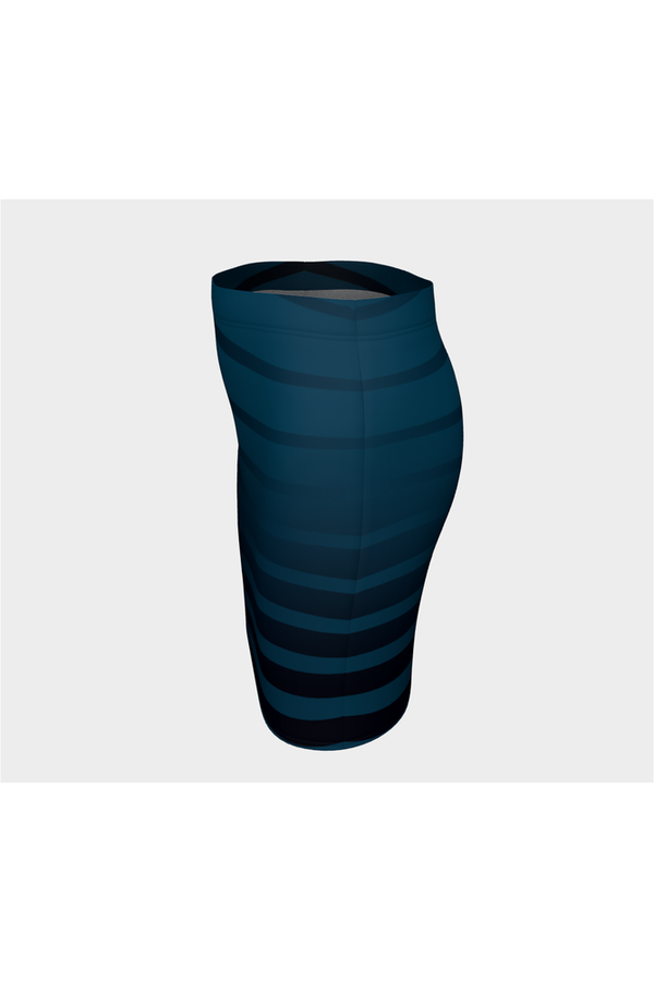 Blue Tiburon Fitted Skirt - Objet D'Art Online Retail Store