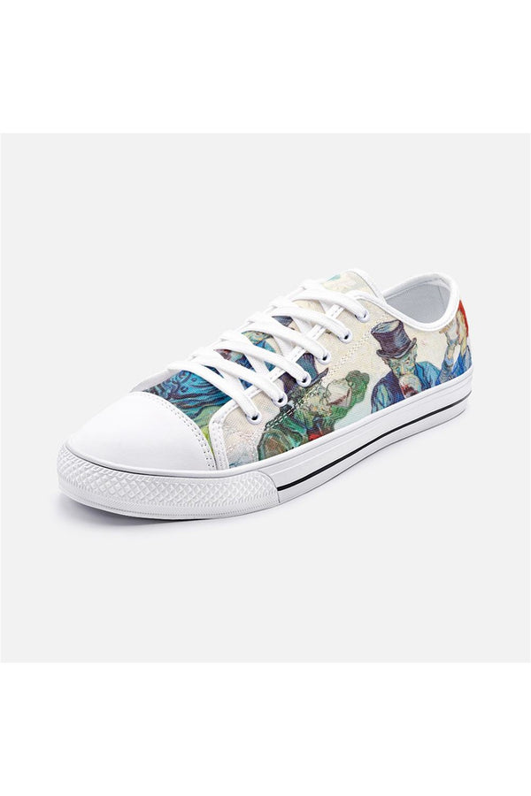The Drinkers by Van Gogh Unisex Low Top Canvas Shoes