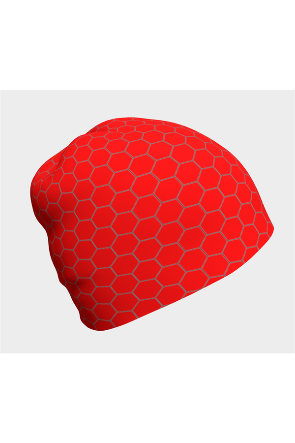 Red Honeycomb Beanie
