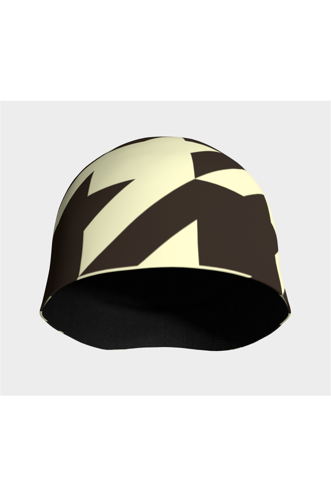 Cream and Cocoa Houndstooth Beanie - Objet D'Art Online Retail Store