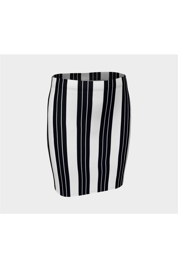 Vertical Stripes Fitted Skirt